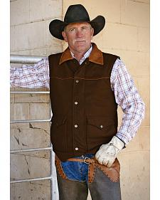 STS Ranchwear Men's Lariat Chocolate Brown Vest - Big & Tall - 2XL-3XL