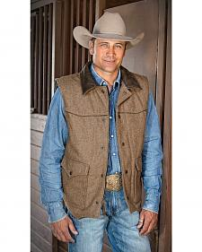 STS Ranchwear Men's Lariat Brown Vest - Big & Tall - 2XL-3XL