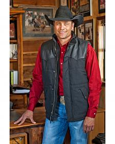 STS Ranchwear Men's Lucas Down Style Black Vest