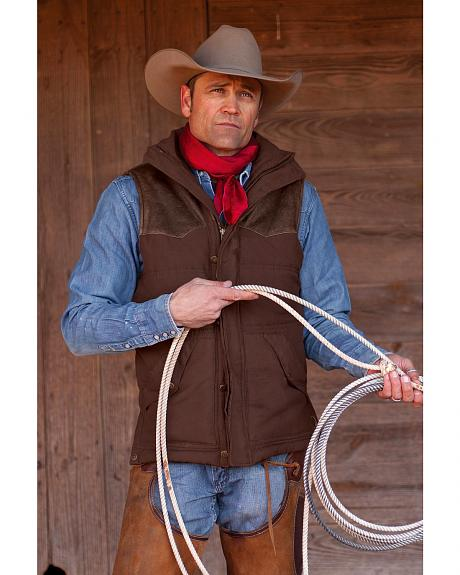 STS Ranchwear Men's Lucas Down Style Brown Vest - Big & Tall - 2XL-3XL