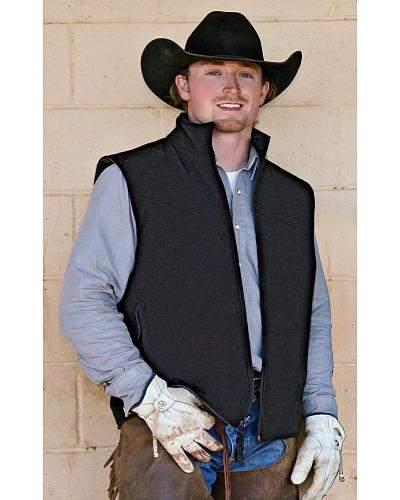 STS Ranchwear Mens Ewing Reversible Grey Vest Big & Tall 2XL-3XL Western & Country STS9142X