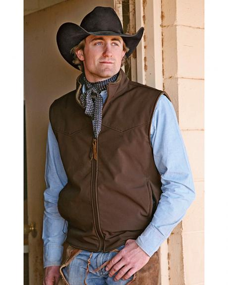 STS Ranchwear Men's Ewing Reversible Brown Vest - Big & Tall - 2XL-3XL