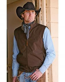 STS Ranchwear Men's Ewing Reversible Brown Vest - Big & Tall - 4XL