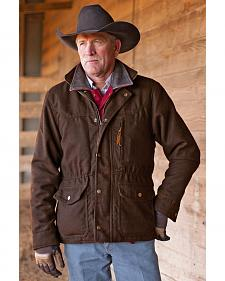 STS Ranchwear Men's Smitty Chocolate Brown Barn Jacket