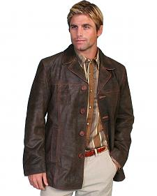 Scully Calf Suede Leather Car Coat