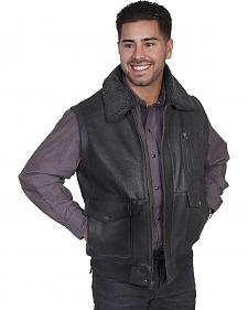 Scully Buffalo Calf Leather Shearling Vest
