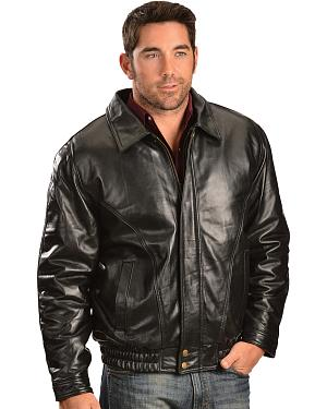 Vintage Leather Zip Out Lining Black Lambskin Bomber Jacket