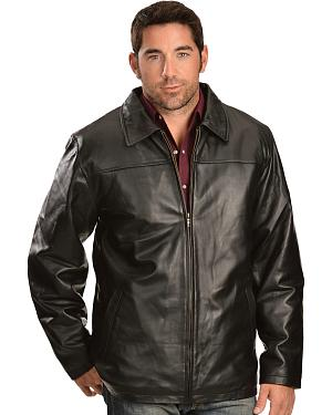 Vintage Leather Zip Out Lining Black Lambskin Jacket