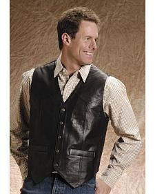 Roper Men's Leather Vest - Big and Tall
