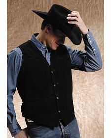 Roper Suede Buckle Tie Vest - Big and Tall