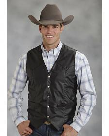 Roper Men's Faux Leather Western Vest - Big & Tall
