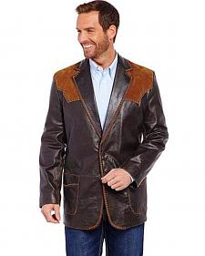 Cripple Creek Suede and Stitched Yoke Western Blazer