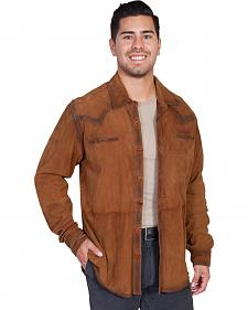 Scully Men's Western Button Up Suede Shirt
