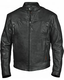 Interstate Leather Men's Beretta Leather Riding Jacket