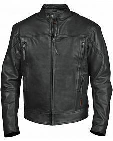 Interstate Leather Men's Beretta Leather Riding Jacket - 2XL-3XL