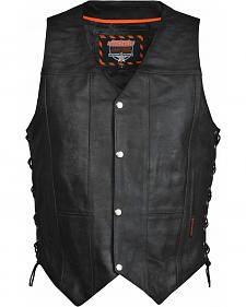 Interstate Leather Men's Justice Vest - 2XL-3XL