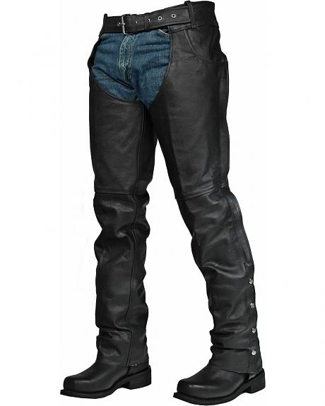 Interstate Leather Rock Riding Chaps
