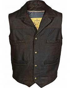 STS Ranchwear Men's Leather Ace Vest - 2XL-3XL