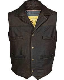 STS Ranchwear Men's Leather Ace Vest - 4XL