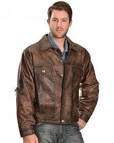 Kobler Leather Men's Rusty Leather Jacket