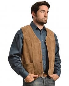 Liberty Wear Men's Suede Western Vest - Big