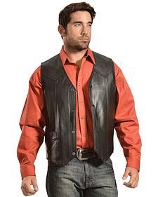 Liberty Wear Men's Leather Western Vest