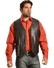 Liberty Wear Men's Leather Western Vest - Big & Tall