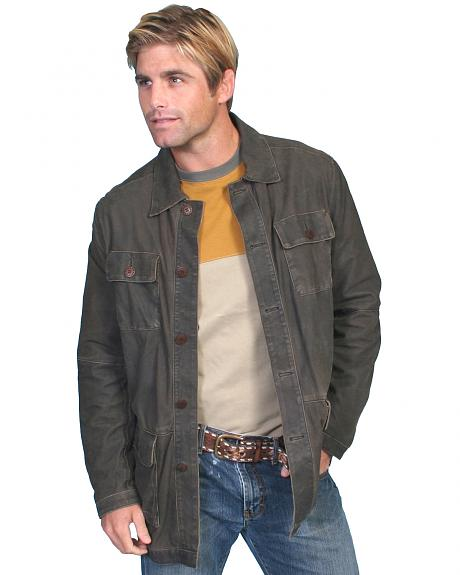 Scully Contemporary Men's Two-Tone Grey Leather Jacket