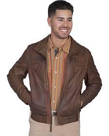Scully Men's Lambskin Zip Front Jacket