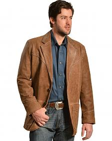 Cripple Creek Thick-Stitched and Hand-Laced Leather Blazer