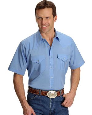 Ely Solid Classic Western Shirt - Big/Tall - Custom Fit, Neck Sizing