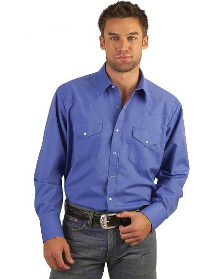 Ely Solid Western Shirt - Tall, Big/Tall - Custom Fit, Neck & Sleeve Sizing