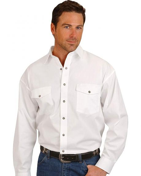 Panhandle Slim Solid Twill Western Cowboy Shirt - Tall