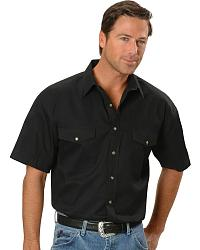 Panhandle Slim Solid Twill Shirt - Big at Sheplers