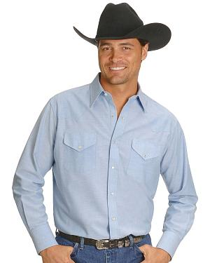 Ely Solid Oxford Western Shirt - Big, Tall, Big/Tall