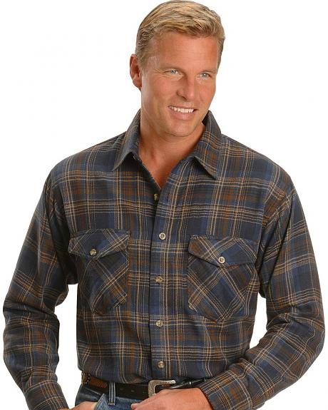 Walls Plaid Flannel Western Shirt - Tall