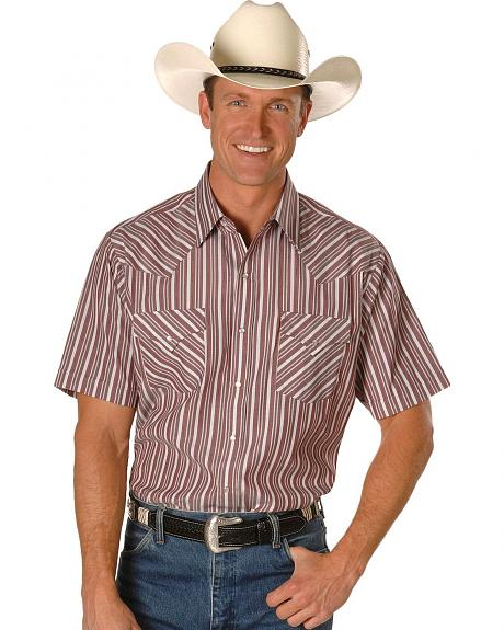 Ely Short Sleeve Stripe Western Shirt - Big, Tall, Big/Tall