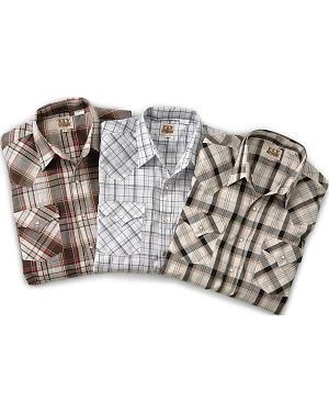 Ely Assorted Plaid & Stripe Long Sleeve Western Shirts - Big, Tall, Big/Tall