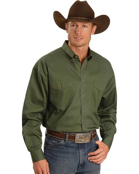 Panhandle Slim Twill Western Shirt - Tall