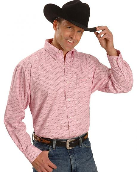 Wrangler Tough Enough to Wear Pink Printed Shirt - Tall, Big/Tall