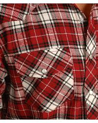 Exclusive Gibson Trading Co. Red Plaid Long Sleeve Flannel Shirt at Sheplers