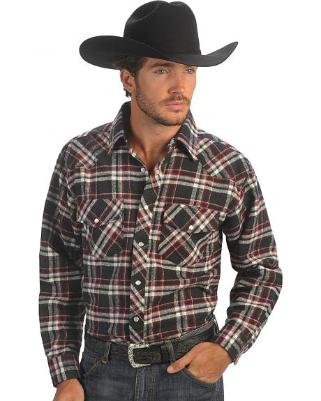 Exclusive Gibson Trading Co. Black & Red Flannel Shirt - Tall