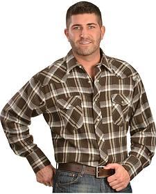 Wrangler Assorted Plaid 4.5 oz. Flannel Western Shirts - Tall