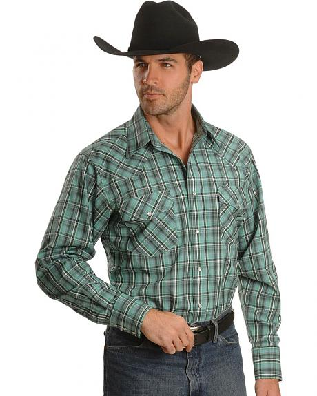 Wrangler Snap Plaid Western Shirt - Tall