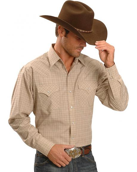 Ely Dobby Check Plaid Western Shirt - Tall