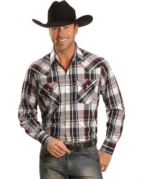 Ely Light Red Plaid Western Shirt - Tall