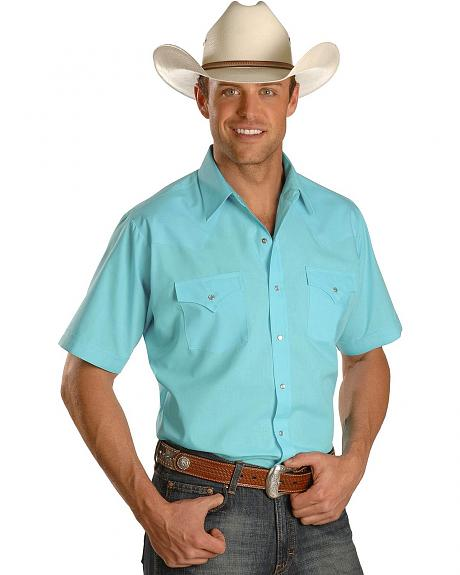 Ely Turquoise Classic Western Shirt - Tall