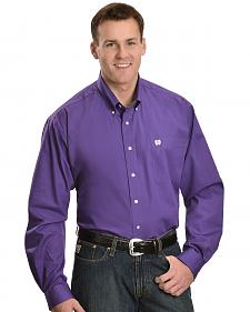 Cinch ® Royal Purple Button Shirt - Big & Tall