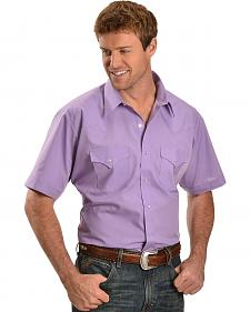 Ely Lavender Classic Western Shirt - Big & Tall
