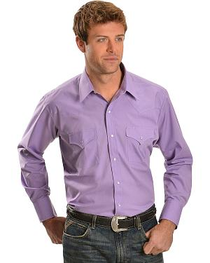 Ely Classic Lavender Western Shirt - Big & Tall
